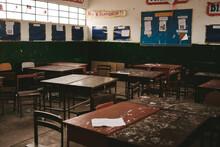 Messy Public School Classroom