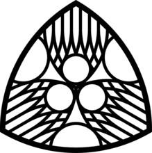 Rose Window, Fig. 21, Triangular 2, Base, Half 1