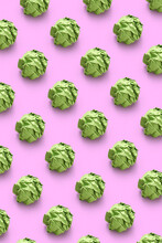 Green Crumpled Paper Balls Pattern.