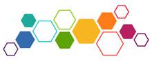 Colored Futuristic Hexagonal Teamwork Process