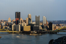 A View Of Downtown Pittsburgh From The West End Overlook About 45 Minutes From Sunset.