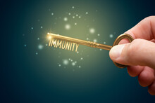 Key To Boost Your Immune System Concept