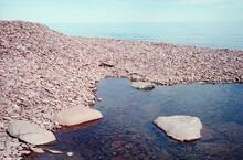 Rock Shoreline Of Lake Superior