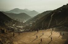 Football Match In A Slum
