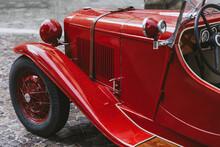 Bonnet Of Retro Automobile