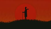 Herdsman At Sunset