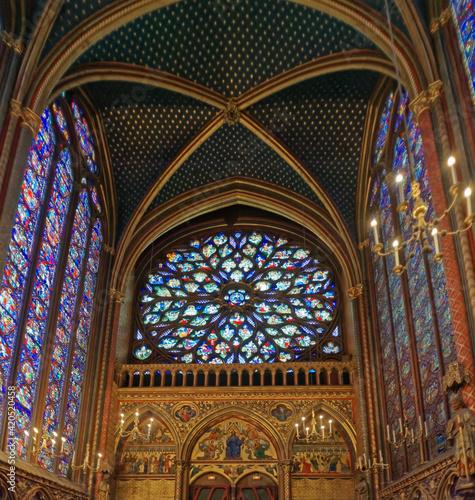 Fotomural Rosace de la Sainte-Chapelle