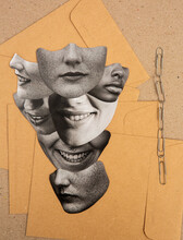 Stacked Faces Collage