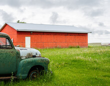Red Abandoned Garage