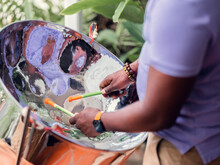 A Steel Drum Player In Barbados, Caribbean