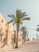 Buildings On Kedumim Square In The Old Town Of Jaffa In Tel Aviv