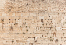 Western Wall Or Wailing Wall In The Old City Jerusalem.