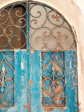 An Old Rusty Metal Door In Jaffa, Tel Aviv