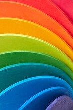 Background From Wooden Rainbow Colored Boards.