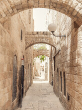A Back Street In The Old Part Of Jerusalem