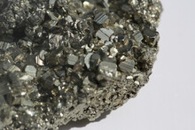 Close Up Of Pyrite Crystals