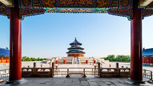 Wonderful And Amazing Temple - Temple Of Heaven In Beijing, China.
