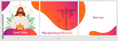 Fotografie, Tablou Good Friday Jesus Christ  carousel post for social media posts
