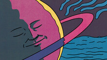 Sleeping Planet Illustration