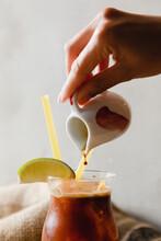 Art Of Making Ice Coffee.