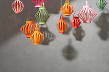 Colorful Paper Lantern For Mid Autumn Festival