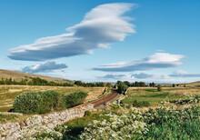 Settle To Carlisle Railway Line On The Yorkshire Cumbria Border. UK.