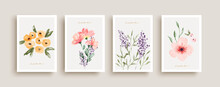 Watercolor Flower Art Gift Poster Collection