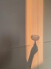Wine Glass Sunlight Shadow