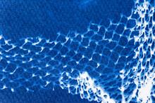 Cyanotype Print With Fishing Net