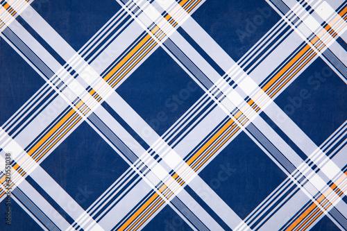 Obraz Closeup shot of plaid check pattern - perfect for background - fototapety do salonu