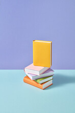 Stack Of Handmade Paper Study Books.