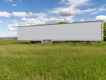 Blank Billboard Of Container Truck