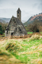 Ancient Church In The Mountains In Ireland