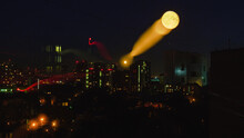 Abstract Light Of The Moon And City