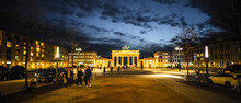Famous Street In Berlin - Unter Den Linden With Brandenburg Gate - Travel Photography
