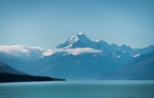 Mount Cook Peak In The Distance.
