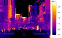 Climate Change In Built Environment, Urban Heat Sinks Of City, Thermographic Imagery