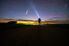 Photographer Watching NEOWISE
