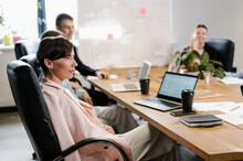 Elegant Woman During Business Seminar In Office