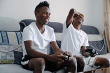 Black Men Playing Video Games