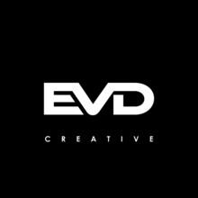 EVD Letter Initial Logo Design Template Vector Illustration