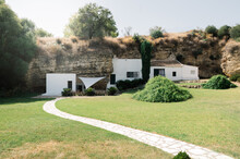 Yard Of House In Rock In Countryside