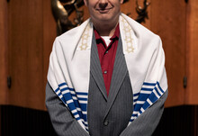 Synagogue: Rabbi Stands In Front Of Ark