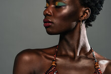 Black African Woman Posing In The Studio