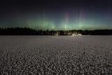 Ness Lake Frozen Aurora