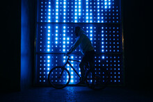 Man On Bicycle At Night