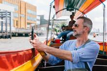 Man Traveling Trough Bangkok