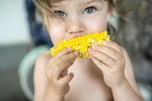 Child With Corn