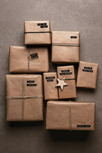 Kraft Paper Christmas Gift Wrapping