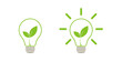 Green leaf light lamp energy of nature. Icon. Illustration